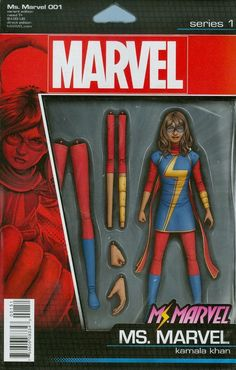 Marvel - Ms.Marvel #1 (2015) Kamala Khan Ms. Marvel Action Figure Variant