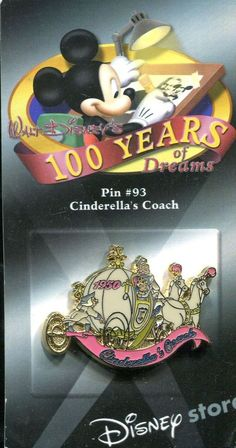 #93 100 Years of Dreams Cinderella's Coach Disney Pin 8615