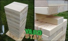 43 Ideas yard jenga storage outdoor games for 2019 Outdoor Jenga, Yard Jenga, Outdoor Games, Outdoor Fun, House Yard, Lawn Games, Review Games, Wooden Blocks, Outdoor Storage