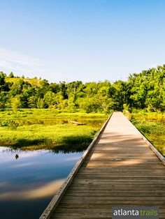 Hike Atlanta's Constitution Lakes Park to scenic lake views from extended…