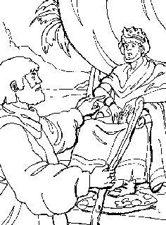 King David and Nathan coloring page from King David