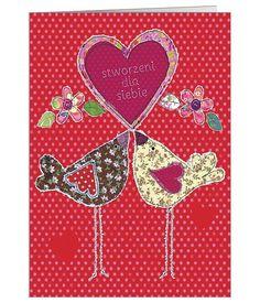 Zabawna, kolorowa kartka ślubna dla zakochanych ptaszków