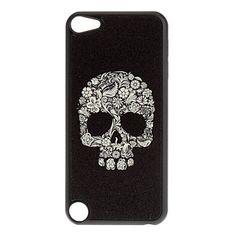 Shimmering crâne frais et fleurs cas dur de modèle pour l'iPod touch 5 – USD $ 2.99