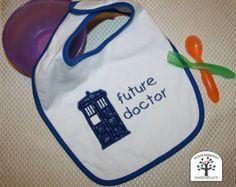 Doctor Who Tardis Applique Bib, Dr Who Baby Bib, Tardis Bib, Blue