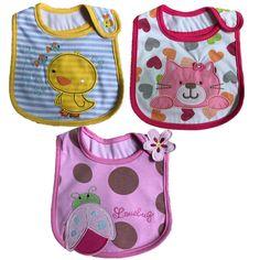 3pcs/lot Newborn Baby Bibs Cloths Cotton Baby Girls Boys Cute Cartoon Bibs Infant Saliva Towels Baby Bibs Waterproof Cloth #Affiliate