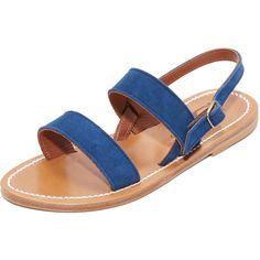 K. Jacques Barigoule Sandal ($265) ❤ liked on Polyvore featuring shoes, sandals, velour shoes, k. jacques, k jacques sandals and k jacques shoes