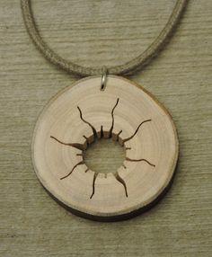 West Coast Sun Wood Pendant.. - Heartwood Gifts