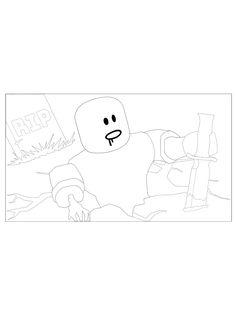 d4db495eb4f16f5f9263d08558b4c300 » Roblox Builderman Coloring Pages