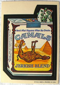 1973 Wacky Packages Stickers 1st Series CAMALS CIGARETTES, via Flickr.