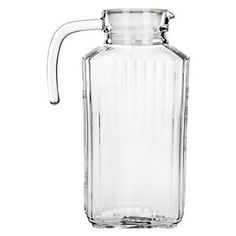 Update your morning juice by storing and serving it in the Global Amici Optic Glass Pitcher - Set of 2 . Serveware, Tableware, Glass Pitchers, Cool Rooms, Kitchen Gadgets, Kitchen Stuff, Kitchen Tools, Kitchen Dining, Hand Washing