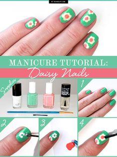 Manicure Tutorial: Daisy Nails