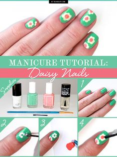 Manicure Tutorial: Daisy Nails