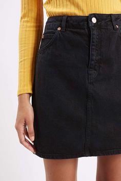 MOTO High-Waisted Denim Skirt