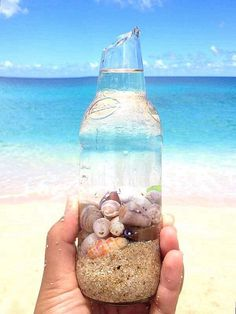 The ocean within and through a bottle