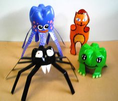 53 ideas recycled art projects for kids milk jug Plastic Bottle Crafts, Bottle Cap Crafts, Diy Bottle, Recycle Plastic Bottles, Recycled Art Projects, Recycled Crafts, Projects For Kids, Crafts For Kids, Afrique Art