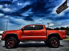 2016 Toyota Tacoma LIFTED TRD OFF-ROAD INFERNO LEATHER XD N-FAB