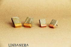 Orecchini in CEMENTO rettangolari con ORO e RAME HANDMADE by LINDANERA  disponibili online:  https://www.etsy.com/it/listing/281675552/orecchini-di-design-in-cemento?ref=shop_home_active_19