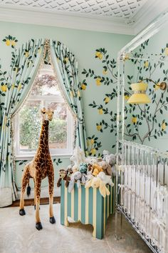 Dina Bandman Interiors x Christopher Stark x Luxholdups bring giraffe nursery goals come to life! Dina Bandman Interiors x Christopher Stark x Luxholdups bring giraffe nursery goals come to life! Giraffe Nursery, Nursery Room, Girl Nursery, Girl Room, Nursery Decor, Nursery Ideas, Project Nursery, Yellow Nursery, Nursery Themes