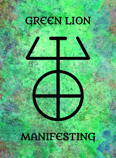 The Green Lion (Manifesting) image for the Transcendence Oracle™ card deck by Aethyrius.
