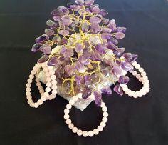 Genuine Rose Quartz 8mm Beads Bracelet by LunaValleyCrystals