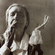 I am not what I am, I am what I do with my hands ~Louise Bourgeois   Photograph by Yann Charbonnier