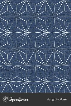 Shibori Stars custom fabric by kimsa for sale on Spoonflower Black Wallpaper, Fabric Wallpaper, Pattern Art, Pattern Design, Sew Bags, Geometric Drawing, Custom Printed Fabric, Pretty Backgrounds, Beading Patterns Free