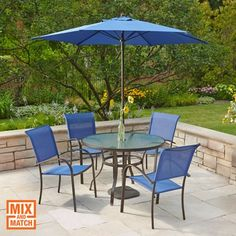 Patio Tables With Umbrellas Furniture Ideas Pinterest Patios And Table
