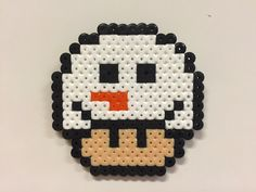 Perler bead mushroom Snowman - by Bjrnbr