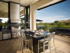 bbq-modern patio design