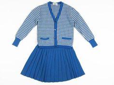Vintage Checkered Wool Set
