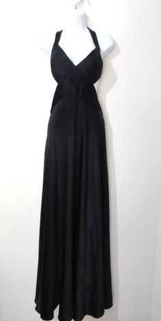 BCBG Max Azria Black Prom Homecoming Evening Cocktail Dress Open Back 8 Medium M #BCBGMAXAZRIA #Maxi #Cocktail
