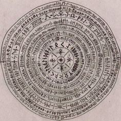 viking runes until the last two rows around the edge, perhaps it's a key Ancient Runes, Norse Runes, Norse Symbols, Norse Mythology, Ying Y Yang, Alphabet, Talisman, Pentacle, Norse Tattoo