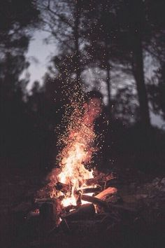 fire, night, and for