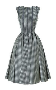Sleeveless Paneled Jacquard Dress by Thom Browne Now Available on Moda Operandi