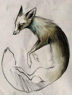 Origin by Skia on deviantART (an aspect of Reynard) Graphic Design Illustration, Book Illustration, Animal Illustrations, Animal Magic, Fox Art, Animal Sketches, Photoshop, Cute Creatures, Cartoon Drawings