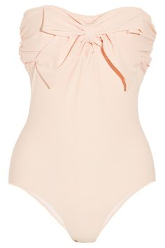 pale pink one piece swimsuit