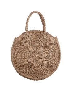 Zimmermann Circular Woven Tote. Product Image.