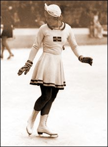 Sonja Henie (1912-1969) was a Norwegian figure skater and film star. She was a three-time Olympic Champion (1928, 1932, 1936) in Ladies Singles, a ten-time World Champion (1927–1936) and a six-time European Champion (1931–1936). Henie won more Olympic and World titles than any other ladies figure skater. At the height of her acting career she was one of the highest paid stars in Hollywood.