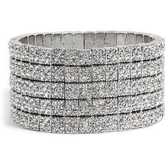 PHILIPPE AUDIBERT Silver Crystal Cuff ($885) ❤ liked on Polyvore featuring jewelry, bracelets, accessories, jewels, pulseiras, fancy jewelry, fancy jewellery, swarovski crystal jewelry, crystal jewelry and silver crystal jewelry