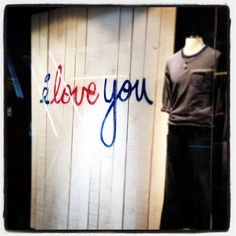 a simple store window design for Valentine's day; shot by iPhone4S