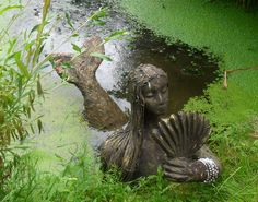 Mermaid at The Mythic Garden Chagford Devon