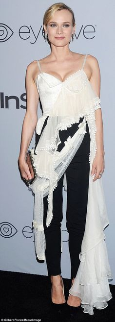 Let 'er rip! Diane Kruger and Hailey Baldwin opted for outfits including swathes of fabric...