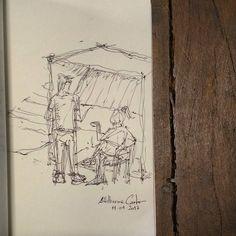 """65 curtidas, 1 comentários - Autoria: @altillierme_carlo (@desenhos_do_alti) no Instagram: """"Pelas janelas de um ônibus... Terminal Praça A.  #desenhosdoalti #desenhos #sketch #sketchers…"""""""