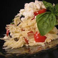 Orzo and Tomato Salad with Feta Cheese Allrecipes.com