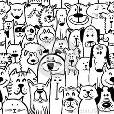 Seamless Doodle Black White Stock Photos, Images, & Pictures – (2,375 Images) - Page 6