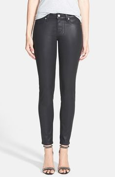 Paige Denim 'Verdugo' Coated Ultra Skinny Ankle Jeans (Black Silk) available at #Nordstrom