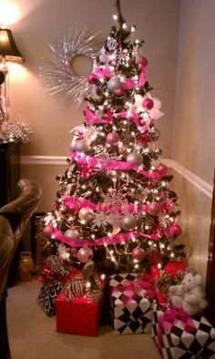 Pink Black For 2017 Christmas Party Trees Tree Design