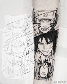 Cartoon Tattoos, Anime Tattoos, Body Art Tattoos, Sleeve Tattoos, Tatoos, Gaara Naruto, Naruto Shippuden Anime, Naruto Art, Itachi