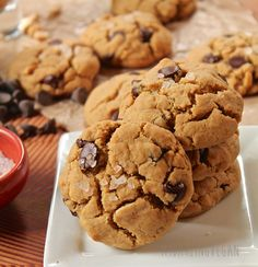 These vegan chocolate chip cookie are made with quinoa flour for a wonderful gluten-free twist on an American classic.