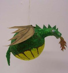 How to make a  dragon pinata... going to let the twins each make their own